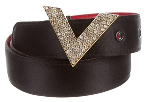 Valentino Black Valentino Crystal Jewel Embellished Belt