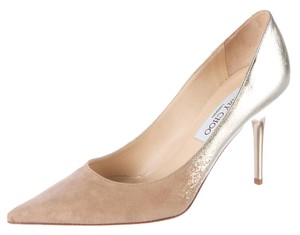 Jimmy Choo Pointed Toe Agnes Beige, Silver Pumps