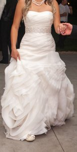 Vera Wang Organza Fit And Flare Gown With Bias Flange Skirt Vw351011 Wedding Dress