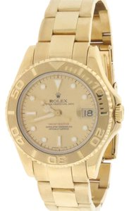 Rolex Rolex Yacht-Master Yellow Gold Midsize 35MM Champagne Dial 68628