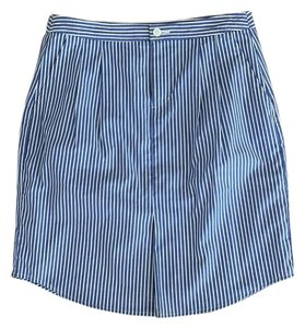 Banana Republic Office Work Summer Striped Skirt Blue and White