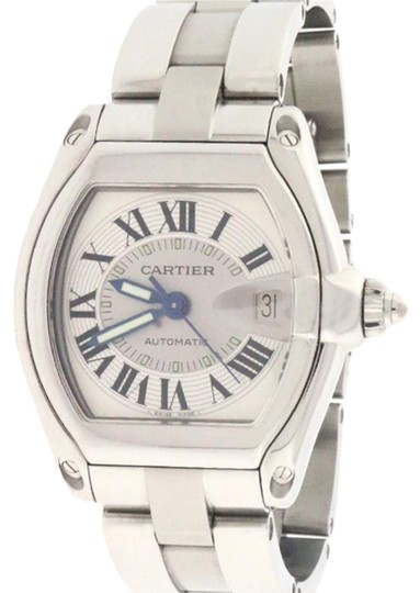 Preload https://img-static.tradesy.com/item/18549268/cartier-roadster-large-silver-roman-numeral-dial-steel-mens-w62025v3-watch-0-1-540-540.jpg