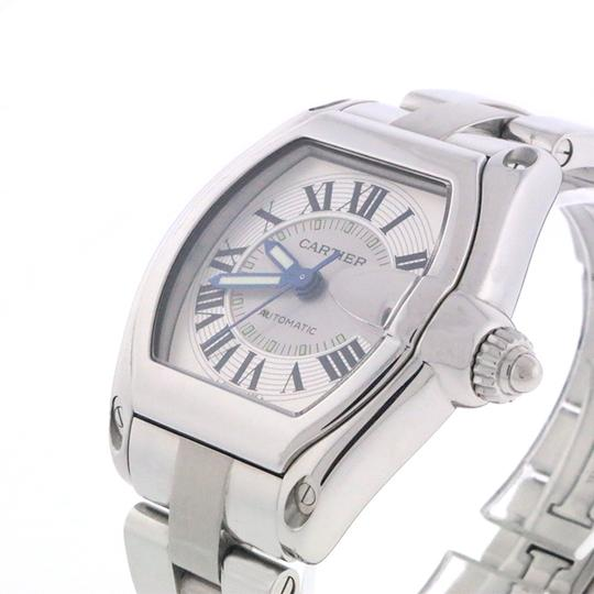 Cartier Cartier Roadster Large Silver Roman Numeral Dial Steel Mens W62025V3