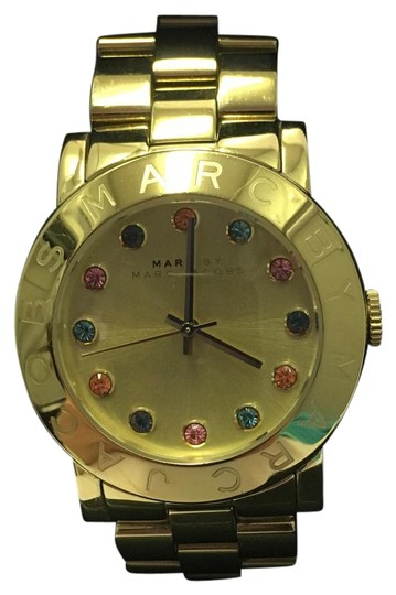 Preload https://img-static.tradesy.com/item/18549274/marc-by-marc-jacobs-gold-bejeweled-watch-0-1-540-540.jpg