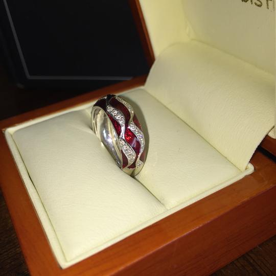 Hidalgo Hidalgo 18k WG American flag ring with diamonds. Style #B-RR1823WG