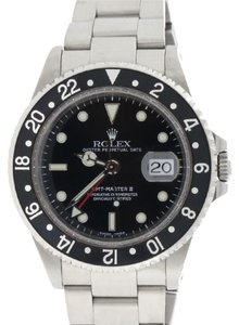 Rolex Rolex GMT-Master II Black Dial 40mm Steel Mens Watch 16710 Holes