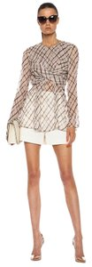 ZIMMERMANN Wrap Silk Top Beige