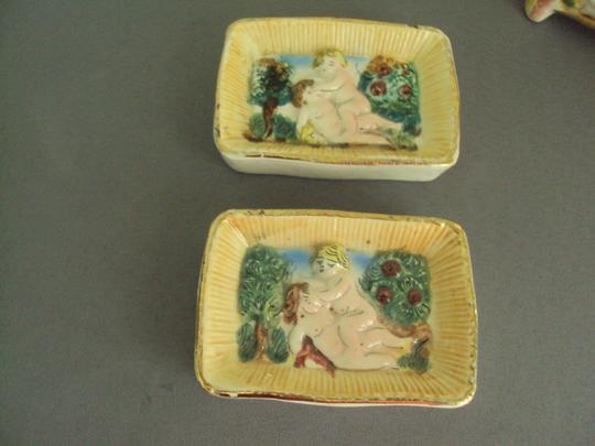 Capodimonte Capodimonte Vintage Lot Cherubs Angels Trinket Box Signed Image 3