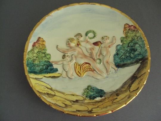 Capodimonte Capodimonte Vintage Lot Cherubs Angels Trinket Box Signed Image 9