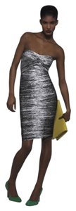 Hervé Leger Bandage Strapless Degrade Dress