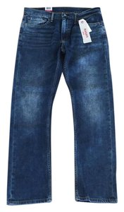 Levi's Mens Distressed Straight Slim Relaxed Fit Jeans-Medium Wash