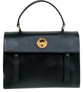 Saint Laurent Satchel in Black, Gold