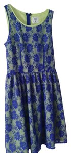 Mac & Jac short dress Blue on Tradesy
