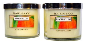Bath and Body Works Set of 2 - Peach Bellini 4oz candles