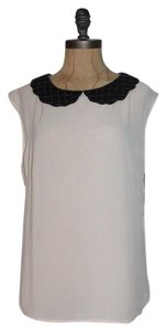Anthropologie Beaded Semi Sheer Top LIGHT PINK