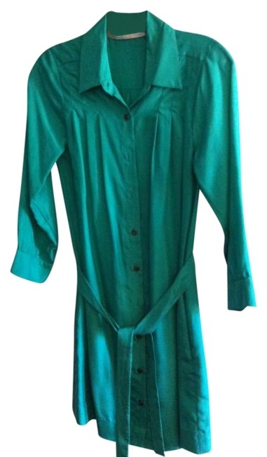 Preload https://img-static.tradesy.com/item/185511/twelfth-st-by-cynthia-vincent-emerald-green-silk-above-knee-workoffice-dress-size-2-xs-0-0-650-650.jpg