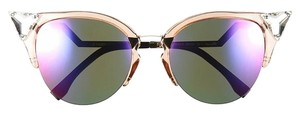 Fendi 0041/S Crystal 52mm Tipped Cat Eye Transparent Peach/Palladium