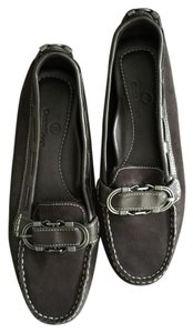 Cole Haan Suede Mocassin Dark Brown Flats