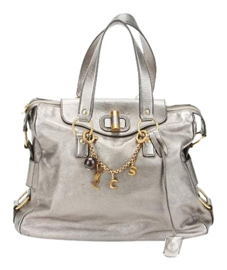 Preload https://img-static.tradesy.com/item/18551377/saint-laurent-muse-yves-2-charm-silver-leather-tote-0-1-540-540.jpg
