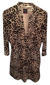 Vince Camuto short dress Leopard print Shirt on Tradesy