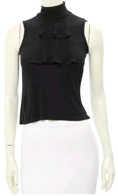 Preload https://img-static.tradesy.com/item/18552247/lamb-amb-black-knit-ruffled-sleeveless-blouse-size-2-xs-0-1-650-650.jpg