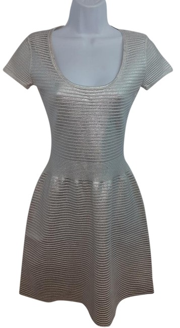 Preload https://img-static.tradesy.com/item/18552253/sandro-silver-ribbed-cotton-blend-1-knee-length-night-out-dress-size-4-s-0-1-650-650.jpg