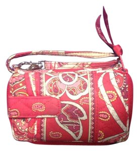 Vera Bradley Wristlet in Red, pink, white
