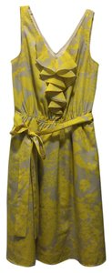 Express short dress Yellow Floral Ruffle on Tradesy