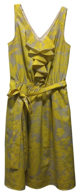 Preload https://img-static.tradesy.com/item/18552634/express-yellow-floral-with-ruffle-short-casual-dress-size-0-xs-0-1-650-650.jpg