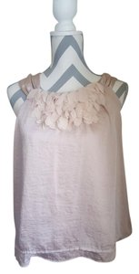 Cynthia Rowley Flower Beige Top Nude