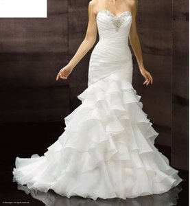 Moonlight Bridal Fitted Ruffle/trumpet Wedding Dress