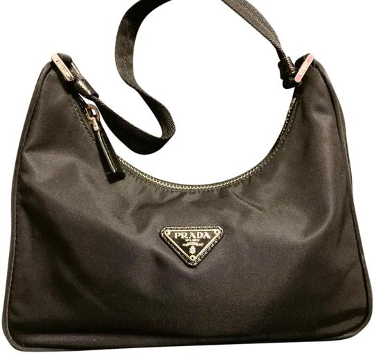 d8f3e663e04d Prada Mini Vintage Handbag Black Nylon Shoulder Bag - Tradesy