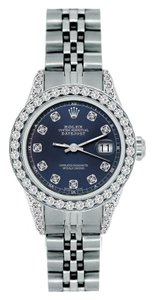 Rolex LADIES ROLEX DATEJUST 1.8CT DIAMOND S/S WATCH WITH ROLEX BOX&APPRAISAL