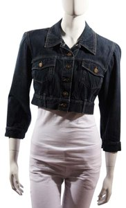 Alexander McQueen Denim Blue Womens Jean Jacket