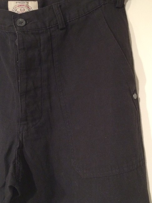 Emporio Armani Talkingfashion Vintage 90s Vintage Linen Straight Pants black