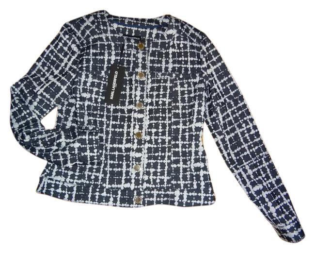 Preload https://img-static.tradesy.com/item/18553060/karl-lagerfeld-navy-new-with-tags-button-down-top-size-2-xs-0-1-650-650.jpg