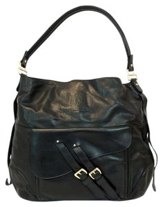Lauren Ralph Lauren Larchmont Hobo Buckle Leather Shoulder Bag