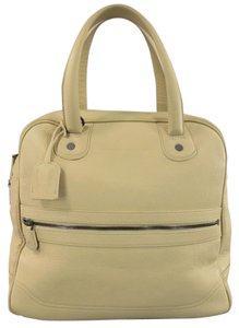 Giorgio Armani Pebbled Embossed Lock Travel Large Beige Travel Bag