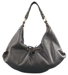 Bottega Veneta Grommet Gold Braided Hoop Drawstring Hobo Bag