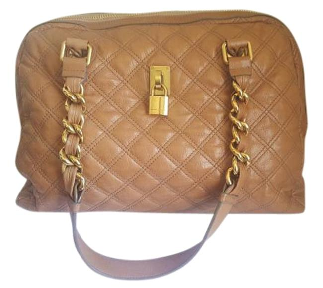 Item - Large with Gold Chains Tan Leather Tote