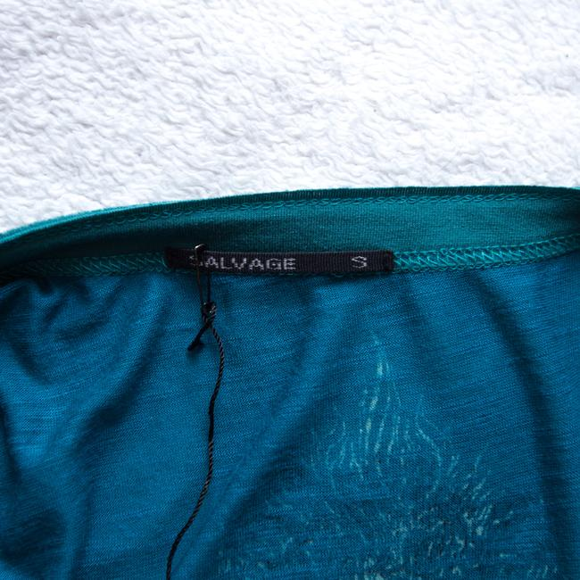 Salvage short dress Teal Graphic V-neck on Tradesy Image 5