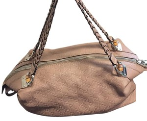 Gucci Satchel in Taupe/rose