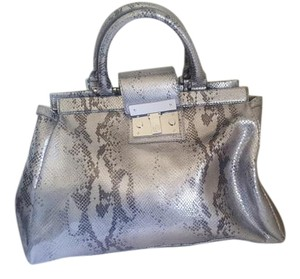 Tory Burch Gray Tote in Silver