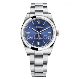 Rolex Rolex Oyster Perpetual 39 Stainless Steel Watch Blue Dial 114300