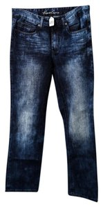 Kenneth Cole Mens Straight Leg Jeans-Dark Rinse