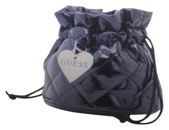 Guess By Marciano Leather Cosmetic Black Travel Bag