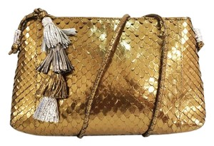 Carlos Falchi Snake Tassels Metallic Snake Cross Body Bag