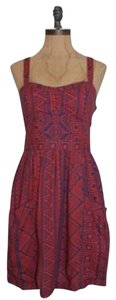 American Eagle Outfitters short dress Burnt orange Tribal Print Pockets on Tradesy
