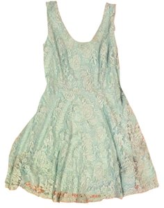 Robin K Skater A-line Lace Dress