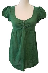 Love Squared Sheer Top Green